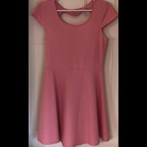 NWOT Popcorn Skater Dress w/Heart Detail
